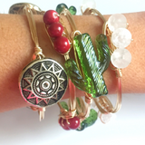 Cactus Wire Wrap Bangle