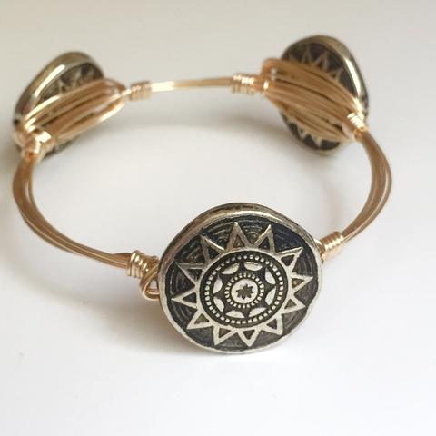 Aztec Wire Wrap Bangle