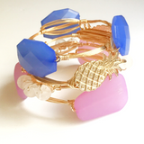 Pineapple Wire Wrap Bangle