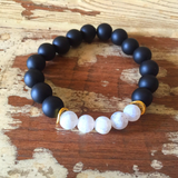 Matte Black Stretch bracelet