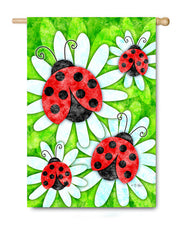Ladybugs and Daisies - Fasadflagga