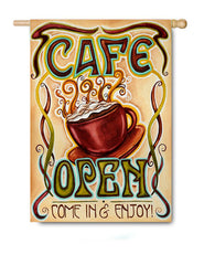 Cafe Open - Fasadflagga
