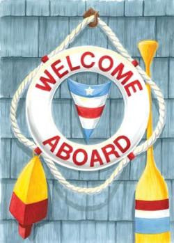 Welcome Aboard - Fasadflagga