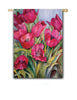 Red Tulips Fasadflagga Happy Flags motivflagga tulpaner