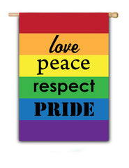 Love Peace Respect Pride - Fasadflagga