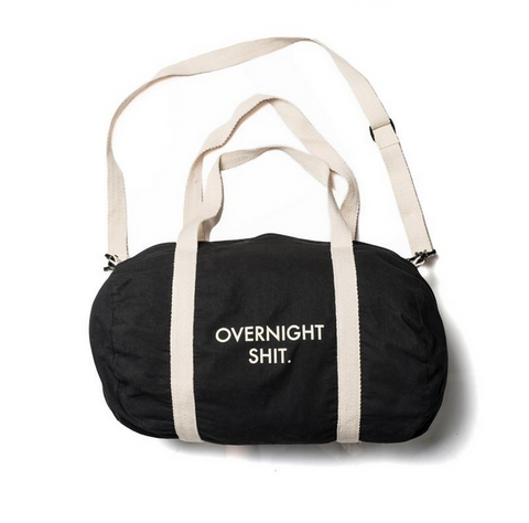 Overnight shit duffel bag [Grrlscout]