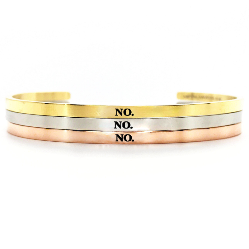 No. Bangle - Metal Marvels - Bold mantras for bold women.
