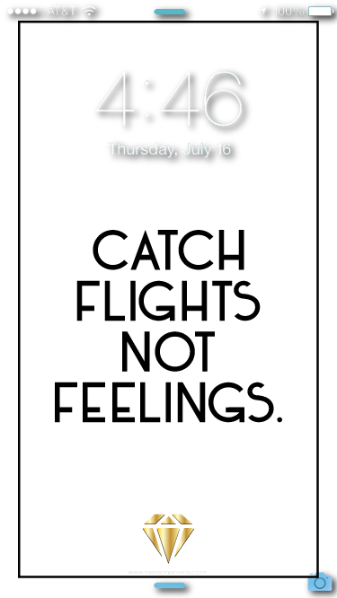 Catch Flights Wallpaper - Metal Marvels - Bold mantras for bold women.