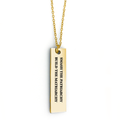 Smash the Patriarchy Build the Matriarchy Bar Necklace - Metal Marvels - Bold mantras for bold women.
