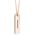 Unapologetic Bar Necklace - Metal Marvels - Bold mantras for bold women.