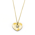Fuck You Necklace - Metal Marvels - Bold mantras for bold women.