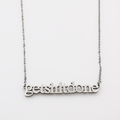 Get Shit Done Cutout Necklace - Metal Marvels - Bold mantras for bold women.