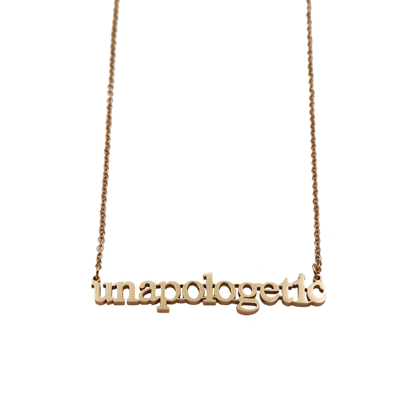 Unapologetic Cutout Necklace - Metal Marvels - Bold mantras for bold women.