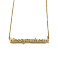 Bless Your Heart Cutout Necklace - Metal Marvels - Bold mantras for bold women.