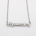 Eff You See Kay Cutout Necklace - Metal Marvels - Bold mantras for bold women.