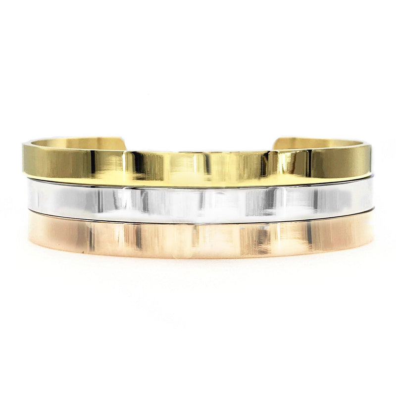 Classic Thick Bangle - Metal Marvels - Bold mantras for bold women.