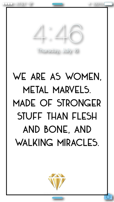 Metal Marvels Wallpaper - Metal Marvels - Bold mantras for bold women.