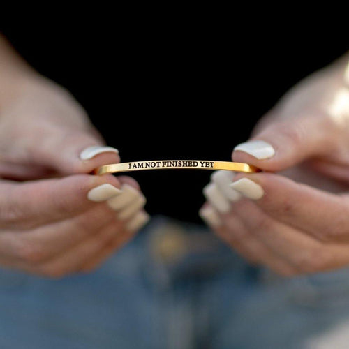 I AM NOT FINISHED YET Bangle - Donates to the American Foundation for Suicide Prevention