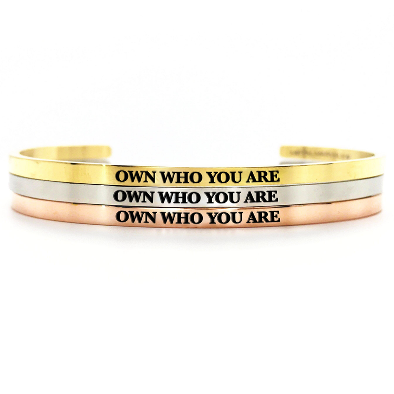 Own Who You Are Bangle - Metal Marvels - Bold mantras for bold women.