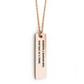 Raising a Badass Kid, One Day at a Time. Bar Necklace - Metal Marvels - Bold mantras for bold women.