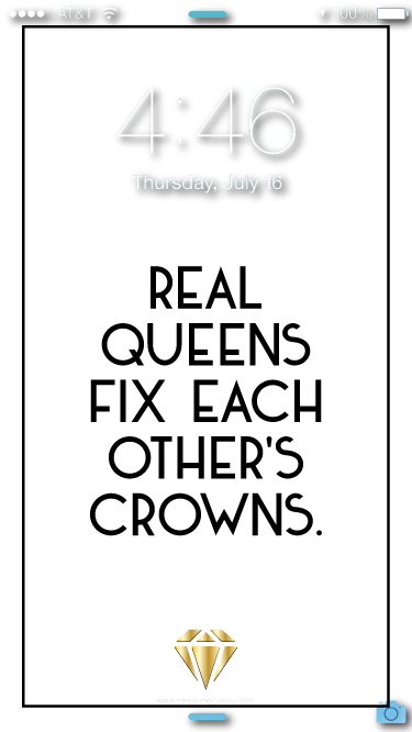 Real Queens Wallpaper - Metal Marvels - Bold mantras for bold women.