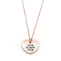 Fuck Fuckity Fuck Necklace - Metal Marvels - Bold mantras for bold women.