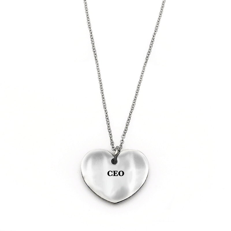 CEO Necklace - Metal Marvels - Bold mantras for bold women.