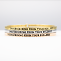 Unsubscribing From Your Bullshit Bangle - Metal Marvels - Bold mantras for bold women.