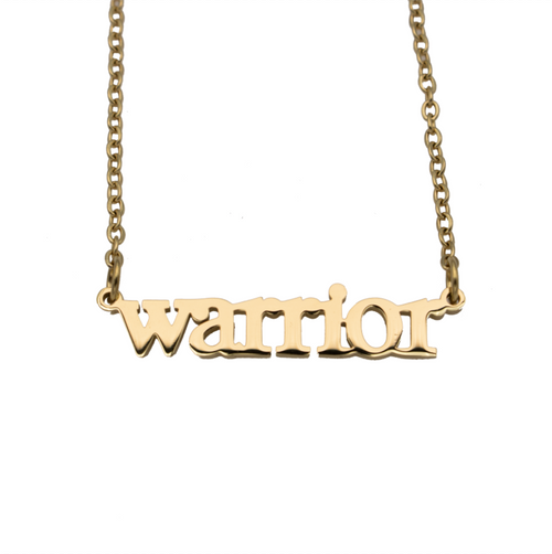 Warrior Cutout Necklace - Metal Marvels - Bold mantras for bold women.