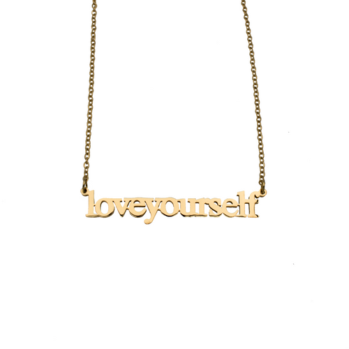Love Yourself Cutout Necklace - Metal Marvels - Bold mantras for bold women.