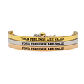 Your Feelings are Valid Bracelet - Metal Marvels - Bold mantras for bold women.