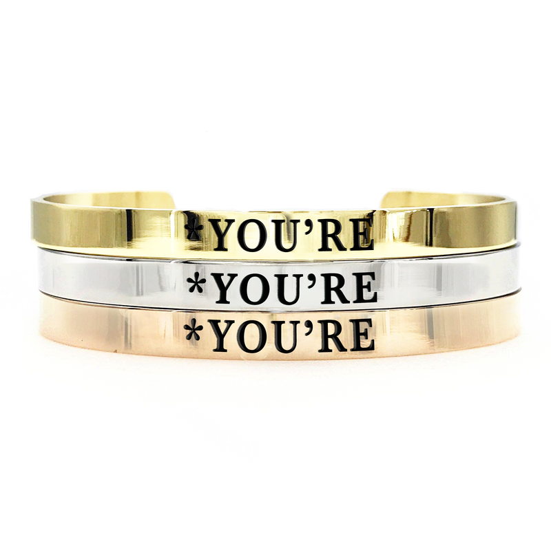 *You're Thick Bangle - Metal Marvels - Bold mantras for bold women.