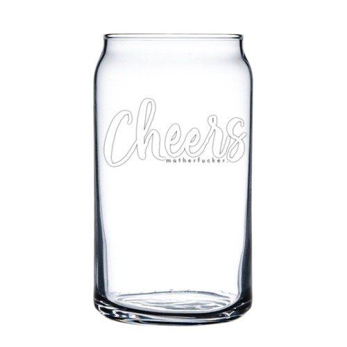 Cheers 16oz Soda/Beer Can Glass - Metal Marvels - Bold mantras for bold women.