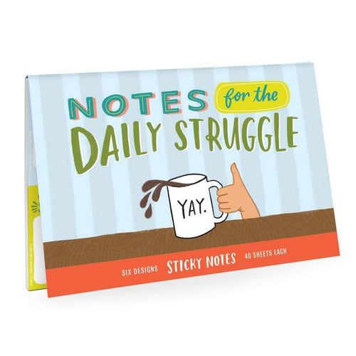 Daily Struggle Sticky Note Packet - Metal Marvels - Bold mantras for bold women.