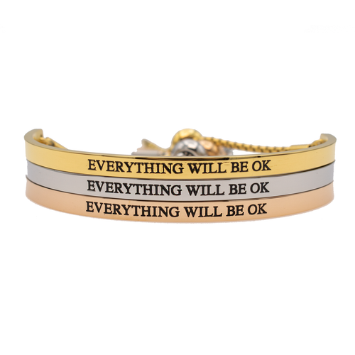 Everything Will be Ok Bracelet - Metal Marvels - Bold mantras for bold women.