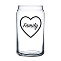 Family Makes Me Drink 16oz Soda/Beer Can Glass - Metal Marvels - Bold mantras for bold women.