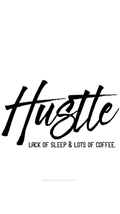 Hustle: Lack of Sleep & Lots of Coffee Wallpaper - Metal Marvels - Bold mantras for bold women.