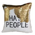 I Hate People Pillow Cover - Metal Marvels - Bold mantras for bold women.