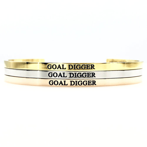 Goal Digger Bangle - Metal Marvels - Bold mantras for bold women.