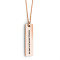 Normal People Scare Me Bar Necklace - Metal Marvels - Bold mantras for bold women.