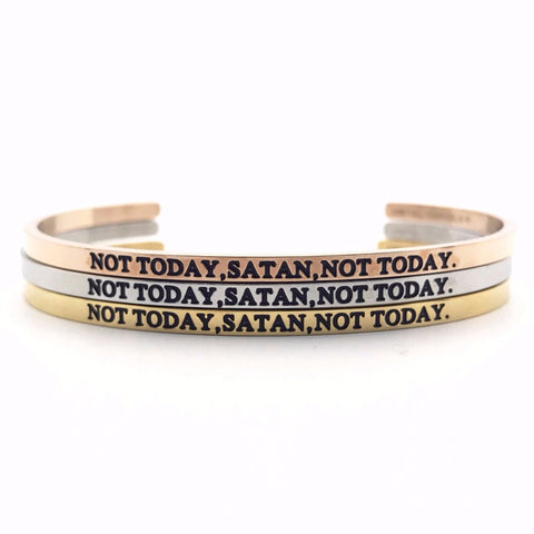 Not Today Satan Bangle - MM Bangles -  - Metal Marvels