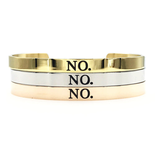 No. Thick Bangle - Metal Marvels - Bold mantras for bold women.