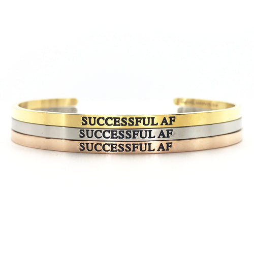 Successful AF Bangle - Metal Marvels - Bold mantras for bold women.