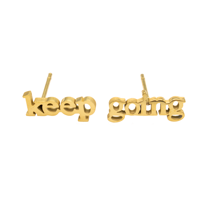 Keep Going Earring Set - Metal Marvels - Bold mantras for bold women.