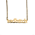 Sad Bitch Cutout Necklace