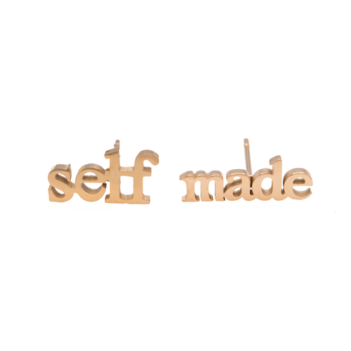 Self Made Earring Set - Metal Marvels - Bold mantras for bold women.