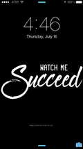 Watch Me Succeed Wallpaper - Metal Marvels - Bold mantras for bold women.