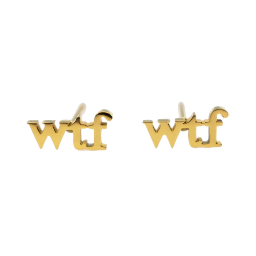 WTF Earring Set - Metal Marvels - Bold mantras for bold women.