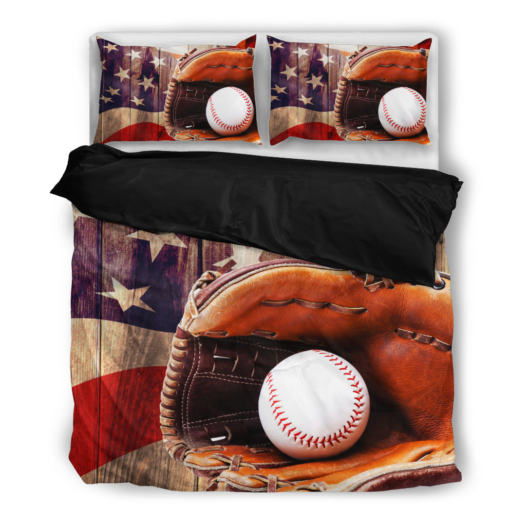 American Baseball Bedding Set