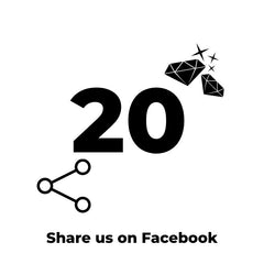 Share on Facebook for 20 Diamonds